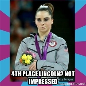 Makayla Maroney  - 4th place LinCOLN? NOT IMPRESSED