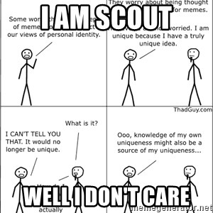Memes - i am scout well i don't care