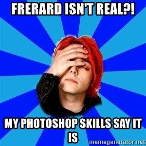 imforig - Frerard isn't real?! my photoshop skills say it is