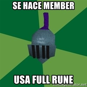Runescape Advice - se hace member usa full rune