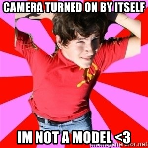 Model Immortal - camera turned on by itself im not a model <3