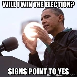Wizard Obama - Will i win the election? Signs point to yes