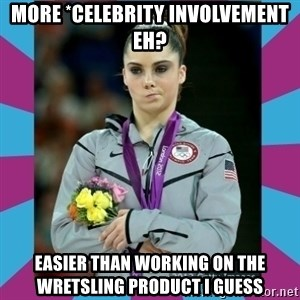 Makayla Maroney  - More *celebrity involvement eh? easier than working on the wretsling product i guess