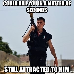 Ridiculously Photogenic Syrian Rebel Fighter - could kill you in a matter of seconds still attracted to him