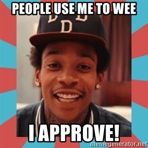 wiz khalifa - People use me to wee I approve!