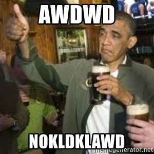 obama beer - awdwd nokldklawd