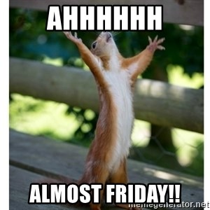 Thanking Squirrel - AHHHHHH Almost Friday!!