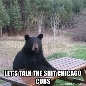 Patient Bear - let's talk the shit chicago cubs