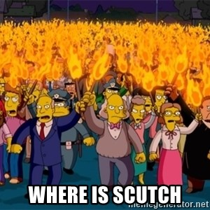 simpsons anger mob - Where is Scutch