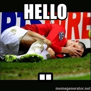 cristiano ronaldo crying - hello ..