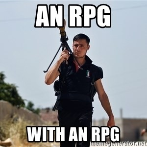 Ridiculously Photogenic Syrian Rebel Fighter - An RPG With an RPg