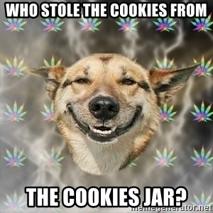 Stoner Dog - who stole the cookies from the cookies jar?