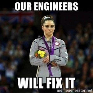 Unimpressed McKayla Maroney - our engineers will fix it