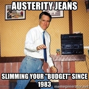 "Mom Jeans Mitt - austerity jeans slimming your ""budget"" since 1983"