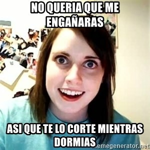 Overly Attached Girlfriend 2 - no queria que me engañaras asi que te lo corte mientras dormias