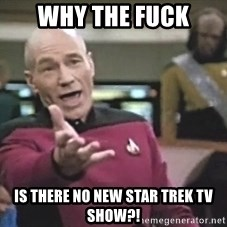 Picard Wtf - why the fuck is there no new star trek tv show?!