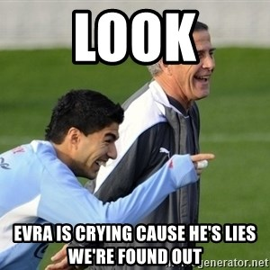 Luis Suarez - LOOK Evra is crying cause he's lies we're found out