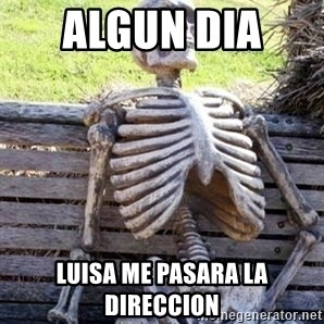 Waiting Skeleton - ALGUN DIA  LUISA ME PASARA LA DIRECCION