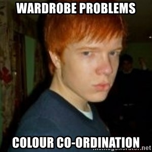 Flame_haired_Poser - wardrobe problems colour co-ordination