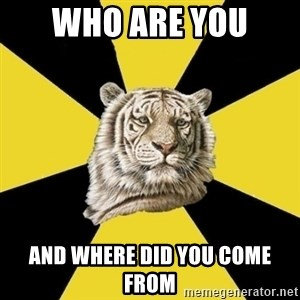 Wise Tiger - WHO ARE YOU  AND WHERE DID YOU COME FROM