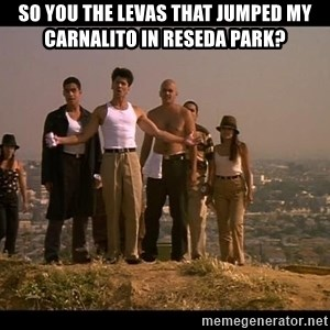 Blood in blood out - SO YOU THE LEVAS THAT JUMPED MY CARNALITO IN RESEDA PARK?