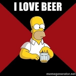 Homer Jay Simpson - I LOVE BEER