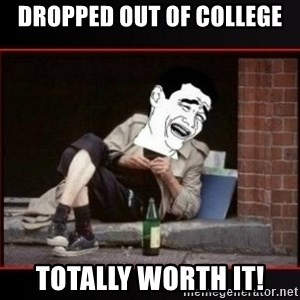 worth it homeless guy yao ming lagh - dropped out of college totally worth it!