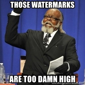 Rent Is Too Damn High - those watermarks are too damn high