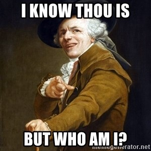 Joseph Ducreaux - I know thou is  but who am i?
