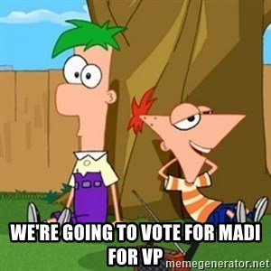Phineas and Ferb - We're going to vote for Madi for VP