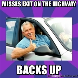 Perfect Driver - misses exit on the highway backs up