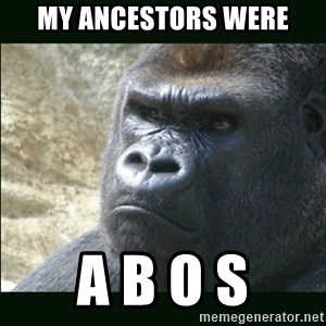 Rustled Jimmies - my ancestors were a b o s