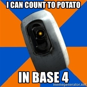 Gladoss - I can count to potato in base 4