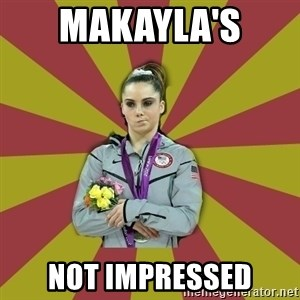Not Impressed Makayla - Makayla's  not impressed