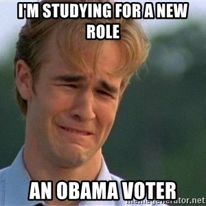 Thank You Based God - i'm studying for a new role an obama voter
