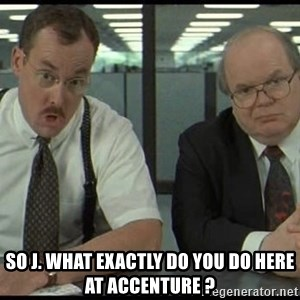 Office space - SO J. WHAT EXACTLY DO YOU DO HERE AT ACCENTURE ?