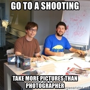 Naive Junior Creatives - go to a shooting take more pictures than  photographer