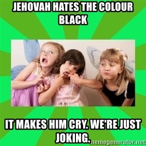 CARO EMERALD, WALDECK AND MISS 600 - jehovah hates the colour black it makes him cry. we're just joking.