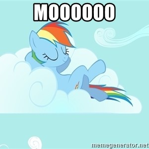 Rainbow Dash Cloud - moooooo