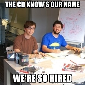 Naive Junior Creatives - the cd know's our name we're so hired