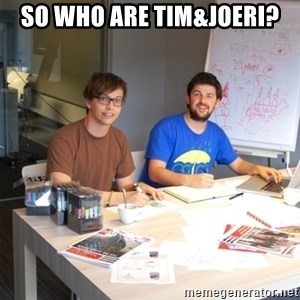 Naive Junior Creatives - SO WHO ARE TIM&JOERI?