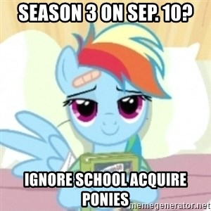 Cute Book Holding Rainbow Dash - Season 3 on sep. 10? ignore school acquire ponies