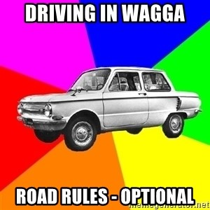 AdviceCar - driving in wagga road rules - optional