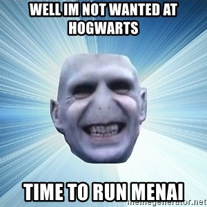 vold - WELL IM NOT WANTED AT HOGWARTS TIME TO RUN MENAI