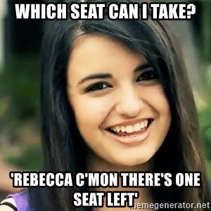 Rebecca Black Fried Egg - Which seat can I take? 'rebecca c'mon there's one seat left'