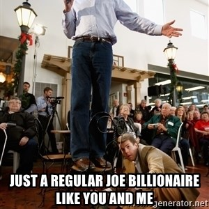 Romney Chairholder Guy - just a regular joe billionaire like you and me