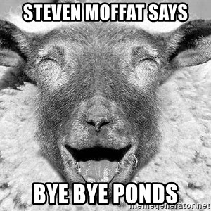 Laughing Sheep - steven moffat says bye bye ponds