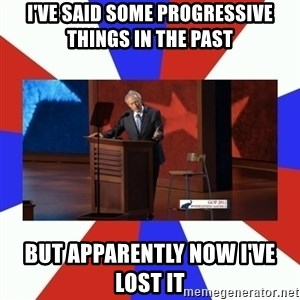 Invisible Obama - I've said some progressive things in the past but apparently now i've lost it
