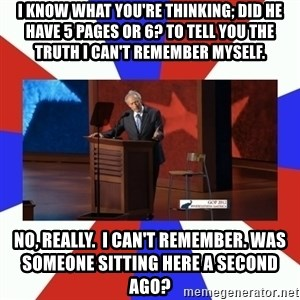 Invisible Obama - I know what you're thinking; did he have 5 pages or 6? To tell you the truth I can't remember myself. No, really.  I can't remember. Was someone sitting here a second ago?