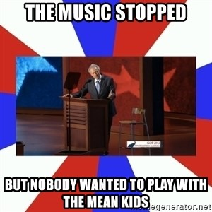 Invisible Obama - the music stopped but nobody wanted to play with the mean kids
